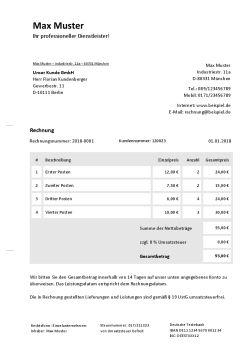 Rechnung Ohne Umsatzsteuer Online Erstellen Downloaden